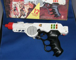 Toy ray gun that probably supplied the handle used to make the Firefly prop.