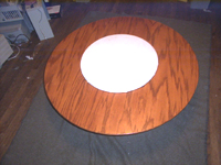 Complete table with lazy susan installed.